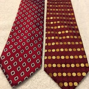 Pair of stylish corporate power ties by JOS A BANK